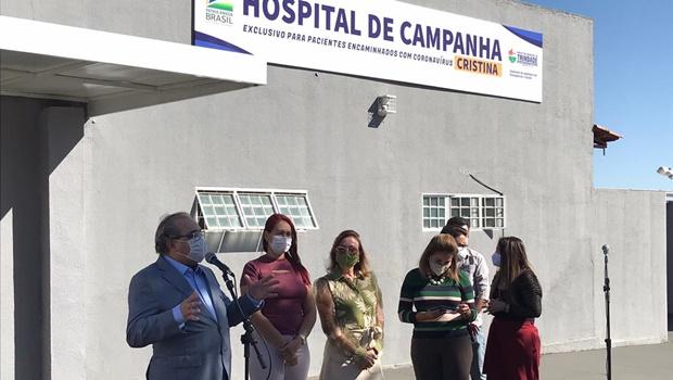 Trindade inaugura hospital para atendimento exclusivo de pacientes com Covid-19