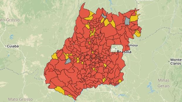 Apenas Palestina de Goiás, Trombas e Nova Roma não possuem casos de Covid-19 no Estado