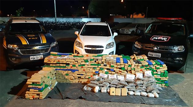 PRF apreende R$5 milhões em drogas em Goiás
