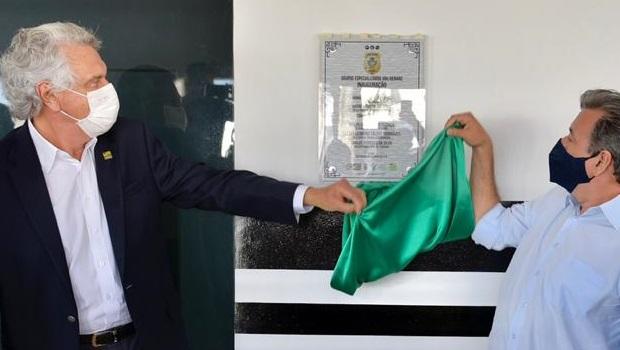 Sede dos grupos especiais de Repressão a Narcóticos e de Investigação de Homicídios é inaugurada em Itaberaí
