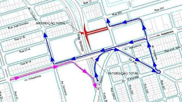 Trecho da Marginal Botafogo será interditado nesta segunda-feira, 31. Veja o mapa