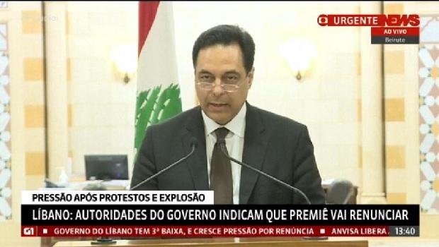 Primeiro-ministro do Líbano renuncia após onda de protestos em Beirute
