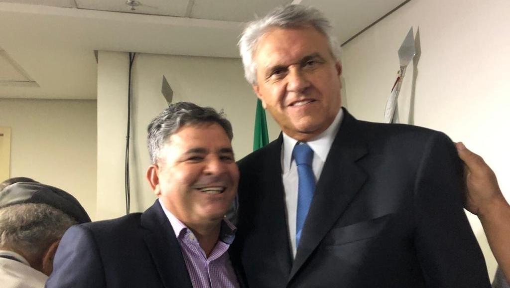 Ronaldo Caiado e Lissauer Vieira bancam reeleição de Barretinho a prefeito de Nova Crixás