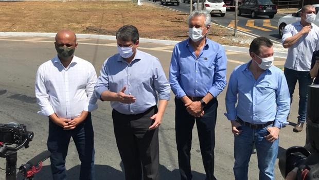 Ao lado de ministro, Caiado inaugura restauração do Anel Viário de Goiânia e Aparecida