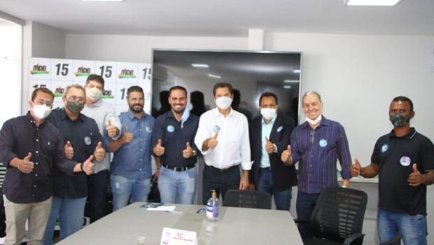Maguito recebe apoio de candidatos a vereador do Podemos e DC