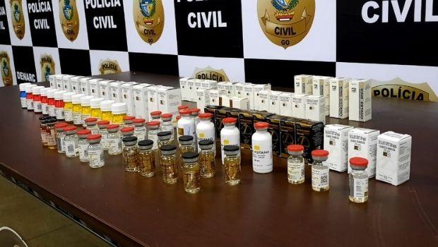 Polícia Civil prende personal trainer que vendia anabolizantes, em Aparecida de Goiânia