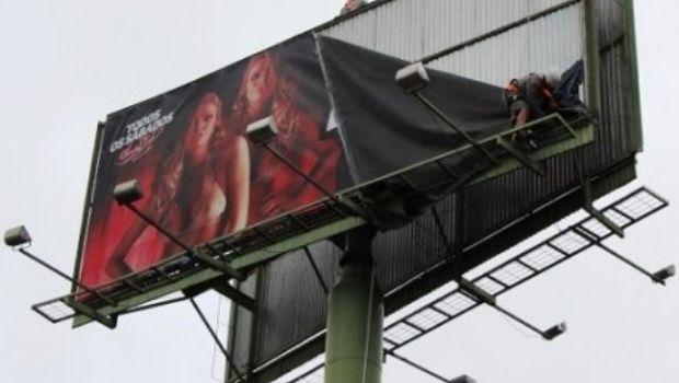 Justiça confirma liminar que determina retirada de outdoors com conteúdo erótico das ruas de Goiânia
