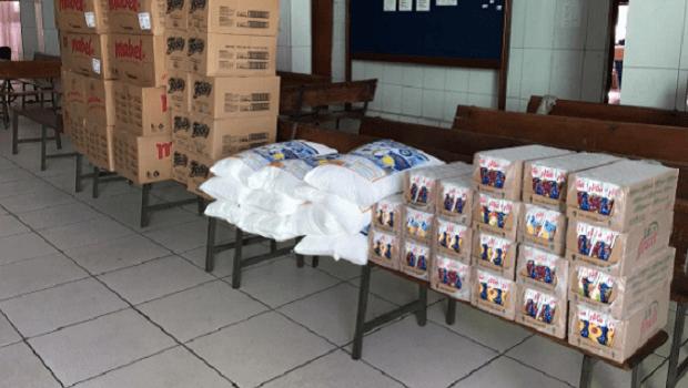 Mesa Brasil doa mais de uma tonelada de alimentos para instituições de caridade, em Goiânia