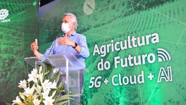 """Brasil vai voltar os olhos para Rio Verde"""", diz Caiado no lançamento de 5G"""