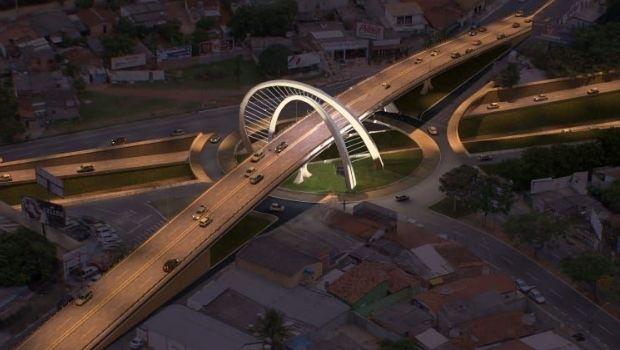 Construção do viaduto da Jamel Cecílio se aproxima do fim e trânsito deve ser liberado até o Natal