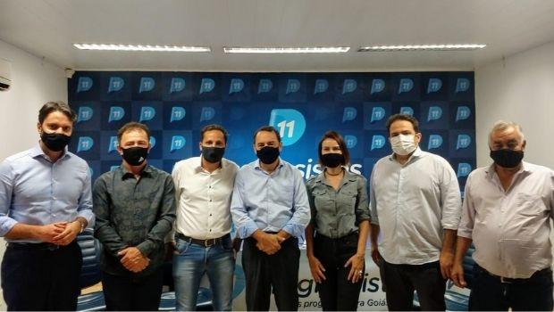 Em encontro no diretório do PP, Roberto Naves e Alexandre Baldy reforçam alianças por Anápolis