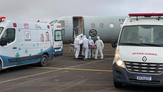 Avião com pacientes vindos de Manaus deve chegar em Goiânia na tarde deste sábado