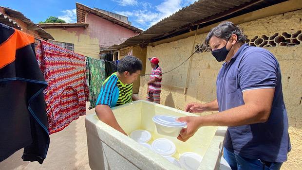 Refugiados e pessoas em situação de rua recebem mais de 70 mil refeições do Governo de Goiás e OVG