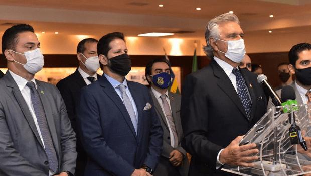 Governador Ronaldo Caiado empossa novos dirigentes da Segurança Pública em Goiás