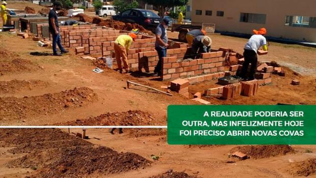 Prefeitura de Caldas Novas aumenta número de covas no Cemitério Municipal