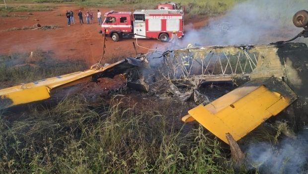 Piloto morre após queda de avião monomotor em Itaberaí