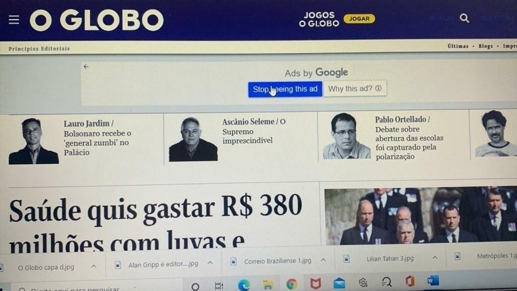 O Globo supera a Folha de S. Paulo e é o jornal mais lido do Brasil
