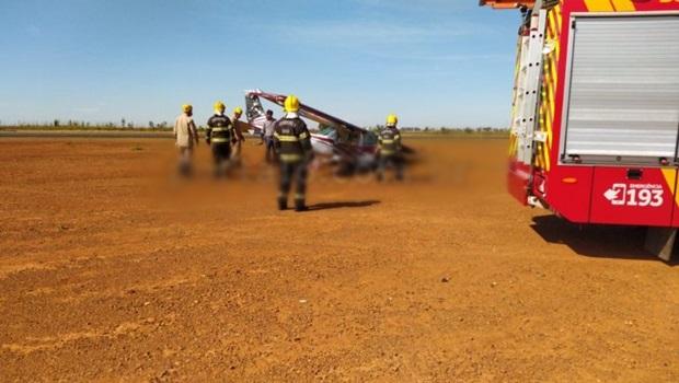 Em voo de instrução, aeronave de pequeno porte precisa fazer pouso de emergência em Anápolis