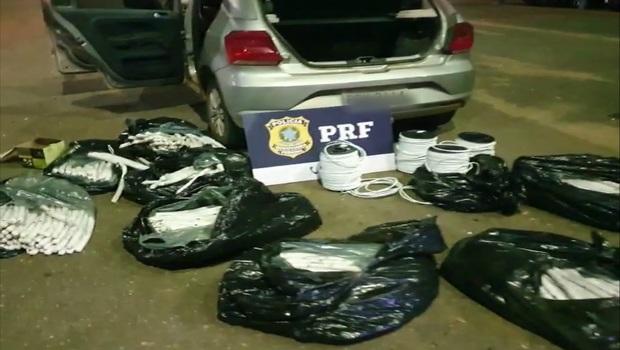 300 quilos de explosivos foram apreendidos pela PRF, em Uruaçu