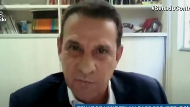 Na CPI da Covid, Vanderlan Cardoso agradeceu Pazuello e enalteceu sua gestão à frente da pandemia