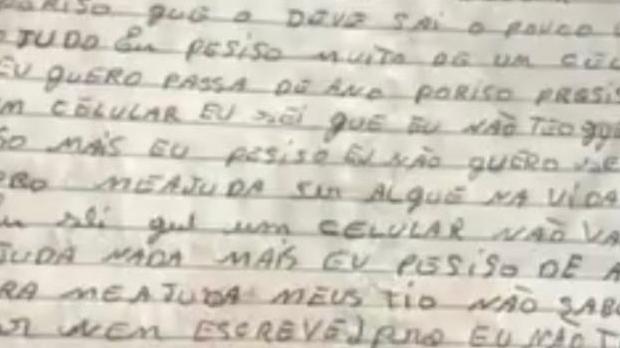 """Aluna envia carta à professora e ganha celular para acompanhar aulas online. """"Me ajuda a ser alguém na vida"""""""