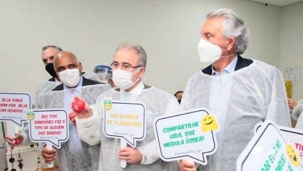 """Em Goiânia, Queiroga elogia Caiado e diz que """"há governadores e governadores"""""""