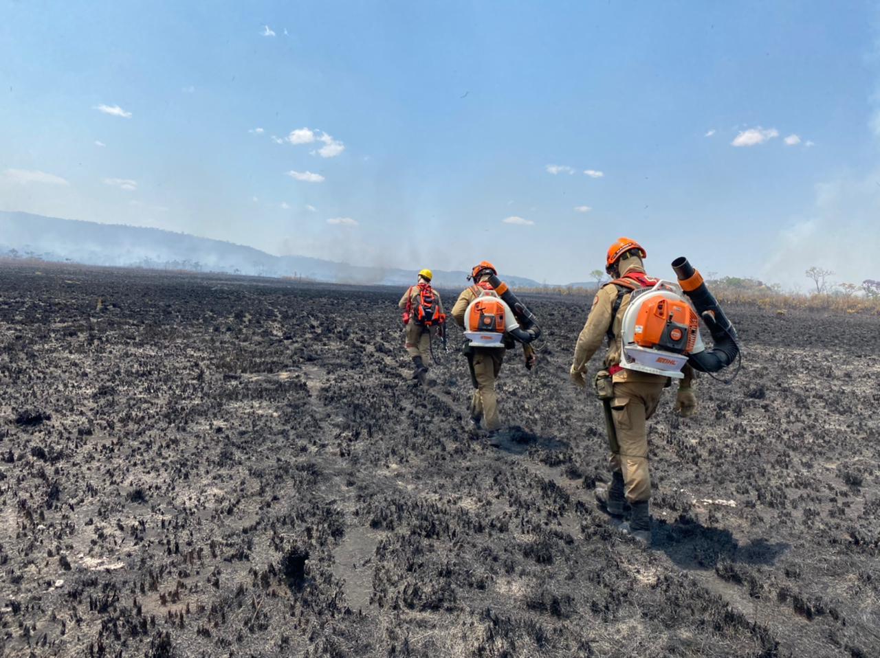 Incêndio na Chapada dura sete dias e já consumiu 14 hectares de mata