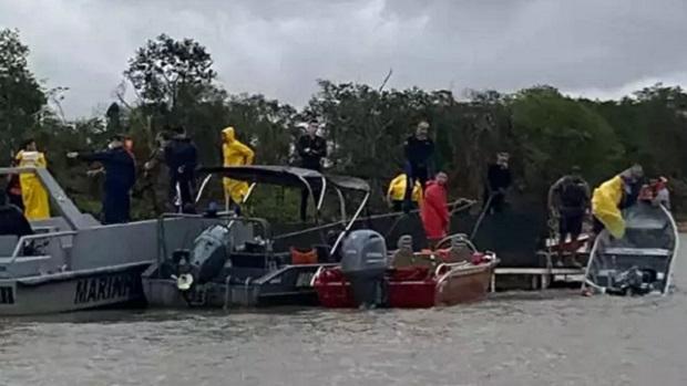 Chalana com goianos: chegam a 5 os mortos em naufrágio no Rio Paraguai