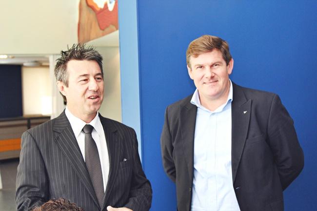 Carlos Bernardo, Gerente de A&B AccorHotels América do Sul e Lucas Demetrescu, gerente A&B Ibis América do Sul