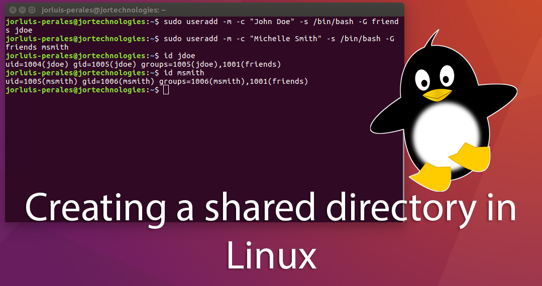 Creating a shared folder on Linux and accessing to it from