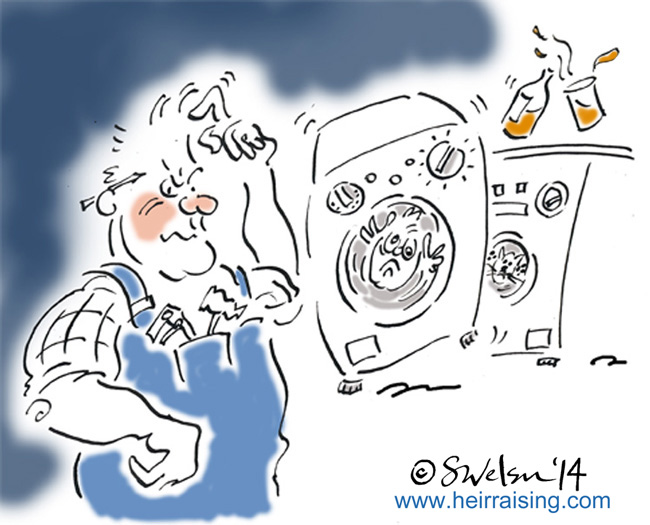 DIY Dad with washing machine