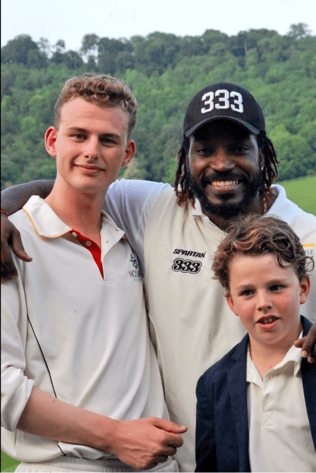 My family and Chris Gayle