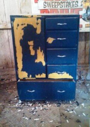 Blue Cupboard Before