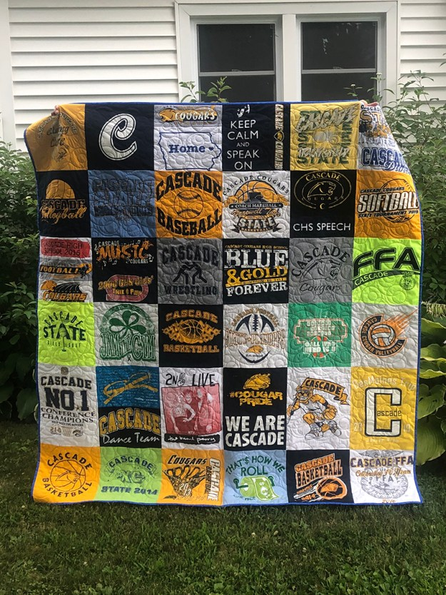 easy t shirt quilt how to make