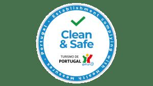"""Selo """"Estabalecimento Clean & Safe"""""""