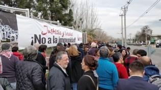 Al medio día se convocaron diversas organizaciones a expresar su apoyo y solidaridad con el Parque por la Paz Villa Grimaldi.