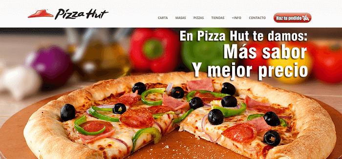 Ejemplos reales de CTA - Pizza Hut