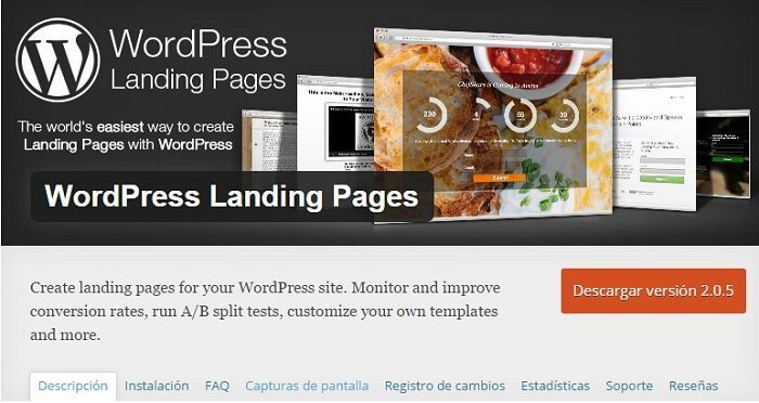 ¿Cómo crear landing pages con un plugin de WordPress gratis?
