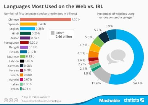 Idiomas en la web