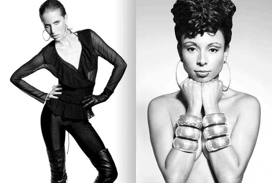 Left. Lisa Badgley / Right. Luana Leme / Styling - Tere Melendez, Make Up & Hair - Denisse Halley , PHOTO - Jose Luis Lozano