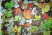 Alfombra de hojas