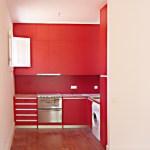 Cozinha de um apartamento.