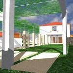Vista do percurso de acesso à habitação principal