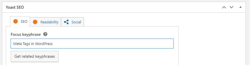 Add Meta Tags To WordPress Website - Keyphrase