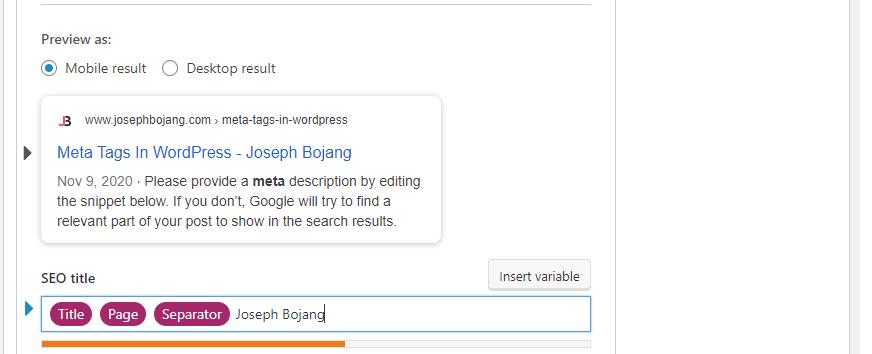 Add Meta Tags To WordPress Website - SEO Title
