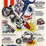 Classic ad - Ride into adventure with Evel Knievel!
