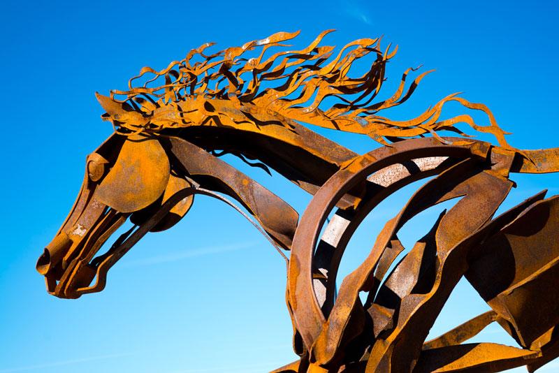 Stallion-roundabout-closeup