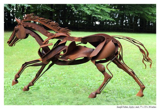 Zephyr-left-side-josephfichter horse sculpture