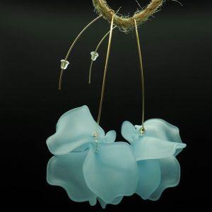 Pendientes largos flores azules 2 Josephine Looks