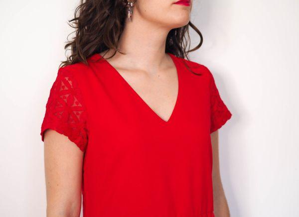 Vestido rojo espalda blonda 3 Josephine Looks